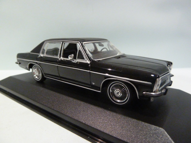 opel diplomat black 1 43 430046070 minichamps diecast model car scale model for sale. Black Bedroom Furniture Sets. Home Design Ideas