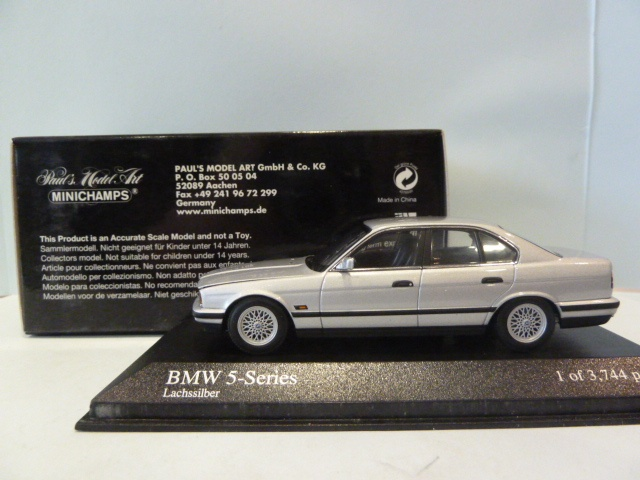 BMW 5 Series 535i (e34) Silver 1:43 400024200 MINICHAMPS