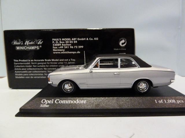 silver Minichamps 1:43 Opel Commodore 1970