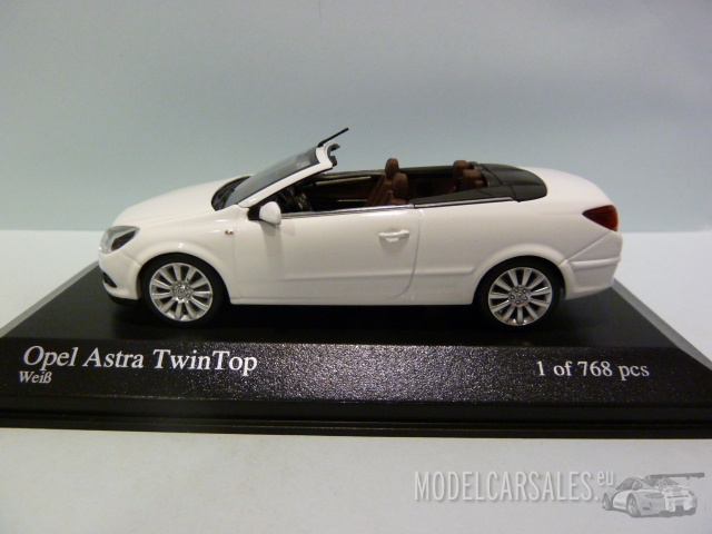 Opel Astra Twin Top convertible coche modelo 1:43 Pannacotta met.