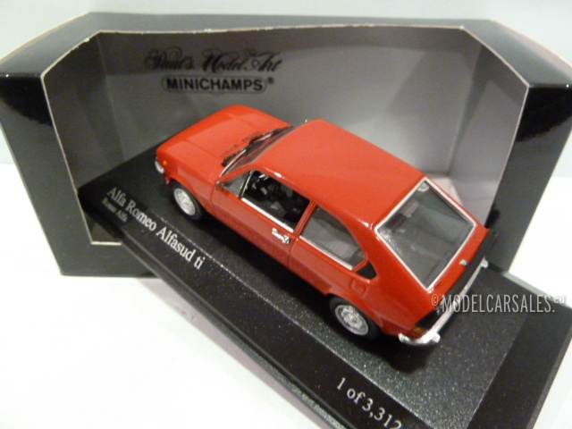 Alfa Romeo Alfasud Ti Red MINICHAMPS Diecast Model - Alfa romeo alfasud for sale