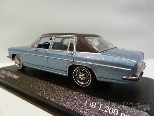 opel diplomat monza blue metallic 1 43 430046072 minichamps diecast model car scale model for sale. Black Bedroom Furniture Sets. Home Design Ideas