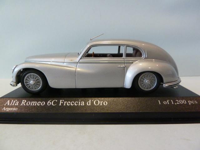 ALFA ROMEO 6c FRECCIA D/'ORO ARGENTO 1947 1:43 Minichamps modello di auto 400120480