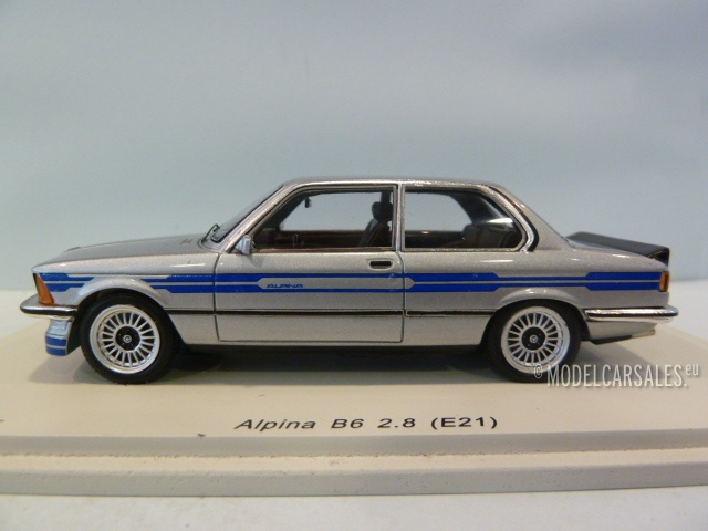 BMW Alpina B6 2.8 (e21) Silver 1:43 S2807 SPARK diecast model car ...