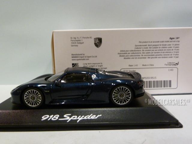 Porsche 918 Spyder Dark Blue Met 1 43 Map02019515 Spark Diecast