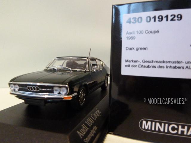 1969-DARK GREEN Minichamps 1:43 AUDI 100 Coupe S