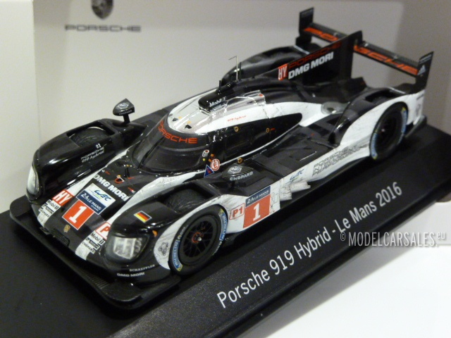 Porsche 919 Hybrid #1 24 H LeMans 2016 Dirty Version 1:43 Spark