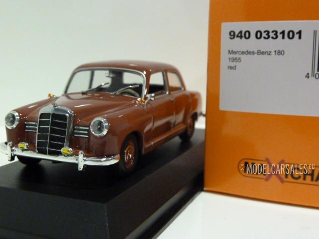 dark red W120 1955 Minichamps Mercedes-Benz 180 1:43 940033101