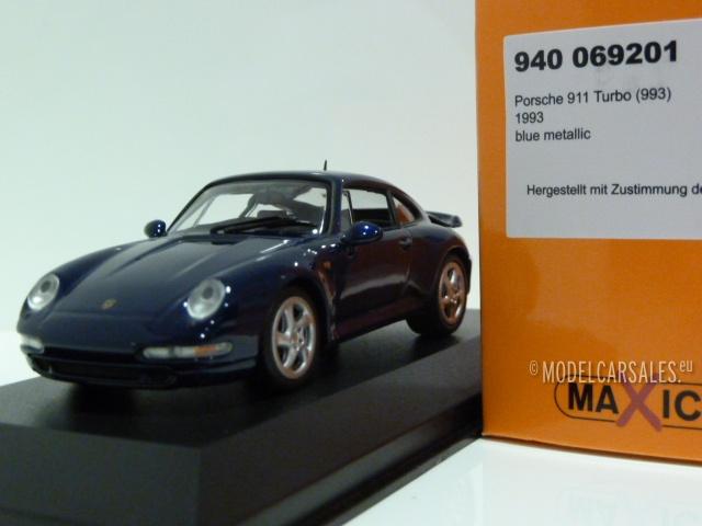 Porsche 911 Turbo S 993 blue metallic 1993