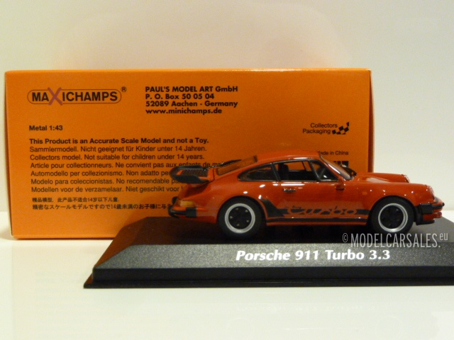 Porsche 911 930 Turbo 3 3 Guards Indisch Red 1 43 940069000 Maxichamps Diecast Model Car Scale Model For Sale
