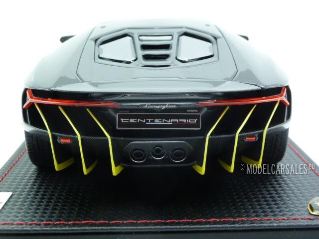 Lamborghini Centenario Carbon Black W Yellow 1 18 Lambo023a Mr