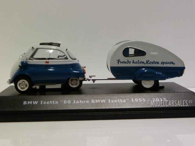 60 Jahre BMW Isetta mit Anhänger 1:43