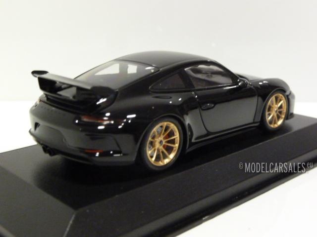 Porsche 911 991 Ii Gt3 Black W Gold Wheels 1 43 Ca04318010g