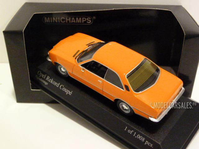 Opel Rekord D Coupe/' 1975 Orange 1:43 Model MINICHAMPS