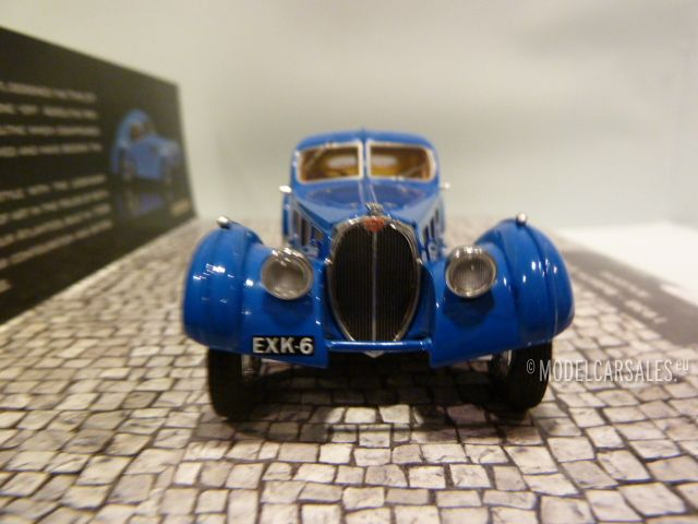 bugatti type 57sc atlantic blue 1 43 437110325 minichamps diecast model car scale model for sale