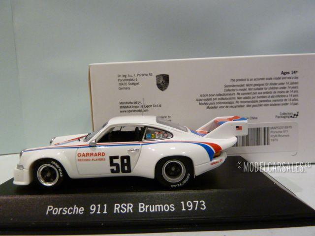 Porsche 911 Rsr 2.8 L.tail #58 Can-Am 1973 Gregg Holbert Donohue 1:43 Model