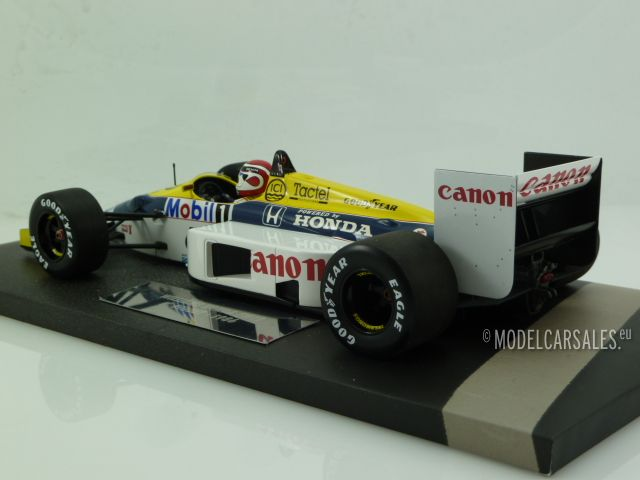 Minichamps F1 Williams FW11 Nelson Piquet 1//18 German GP 1986 Keke Rosberg Taxi