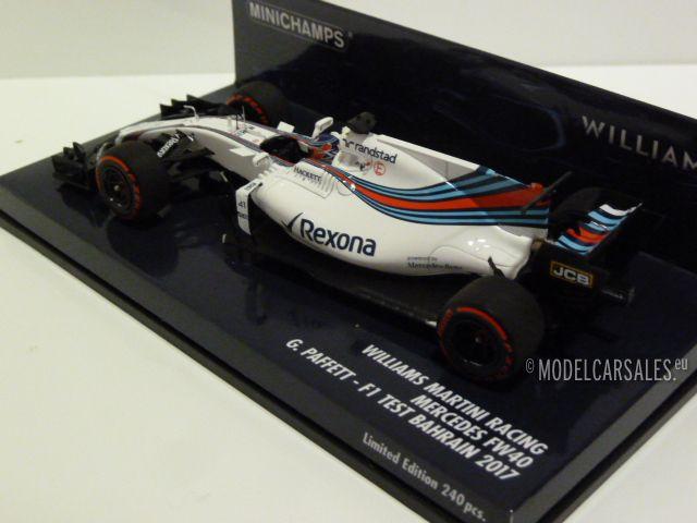 Williams Martini Racing Mercedes FW40 #41 F1 Test F1 Bahrein