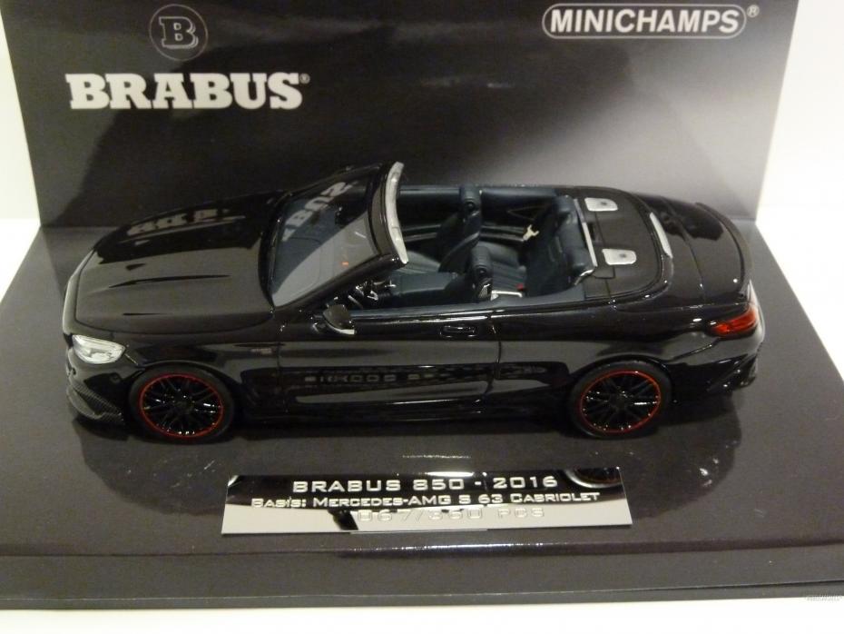 Brabus Mercedes Benz 850 S63 Cabriolet Black 1:43 437034230