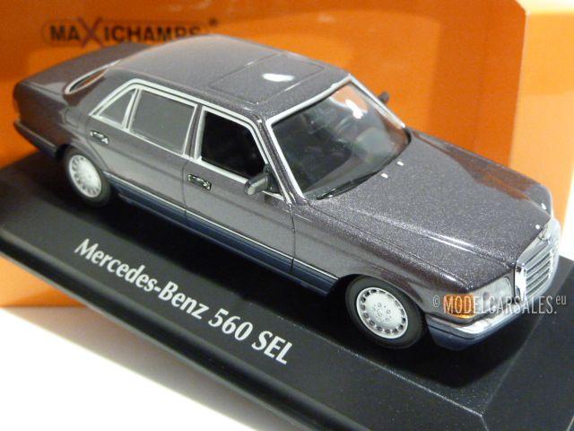 MERCEDES BENZ 560 SEL 1990 PURPLE METALL 1//43 Minichamps MAXICHAMPS 940039301