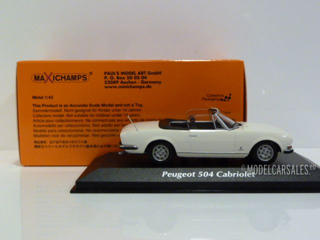 PEUGEOT 504 CABRIOLET 1977-940112131 MAXICHAMPS 1//43
