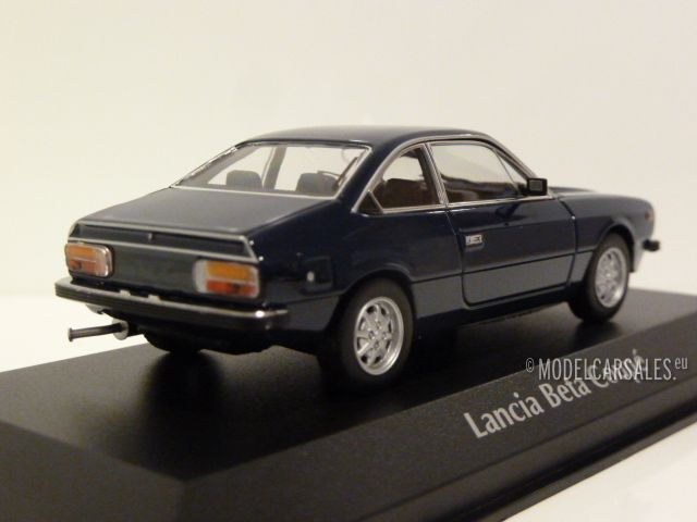 Lancia Beta Coupé argent 1980 Voiture Miniature 1:43 maxichamps